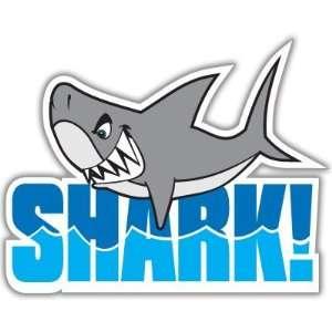 Shark Teeth Funny Cool car bumper sticker decal 4 x 5