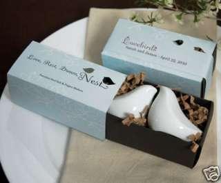 Love Bird Salt and Pepper Shakers Wedding Favors Shower