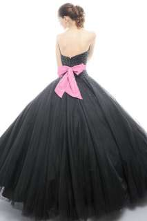 Tulle Black Wedding/Evening/Ball/Gown/Party/Prom/Bridal/Bride