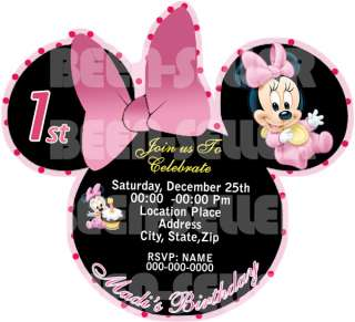 and Minnie Mouse Birthday Invitation + BONUS       YOU PRINT