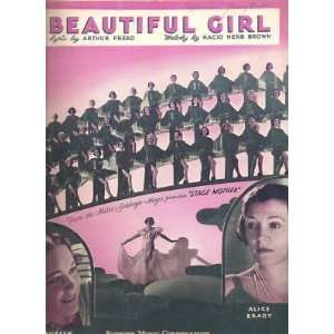 Sheet Music Beautiful Girl Maureen OSullivan 2: Everything
