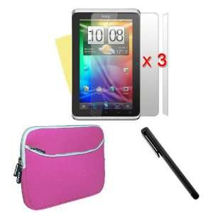 HTC Flyer 7 inch Laptop Dual Pocket Carrying Case In Pink