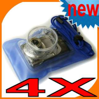 Blue Waterproof Digital Camera Pouch Dry Bag Beach case SKI Swimming