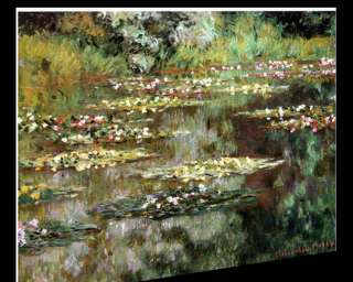 CLAUDE MONET WATER LILIES 1904 STRETCHED CANVAS GICLEE