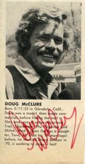 DOUG MCCLURE Trampas in THE VIRGINIAN Autograph