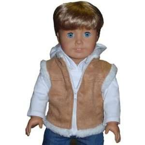 Toy Suede fur vest for American Girl dolls Toys & Games