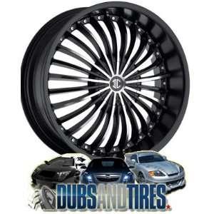 22 Inch 22x8.5 2 Crave wheels No.13 Chrome wheels rims Automotive