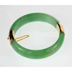Green Jade Bangle Bracelet. *  From Hawaii