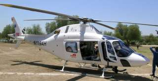 119 Agusta TriState Care Flight Helicopter Wood Model