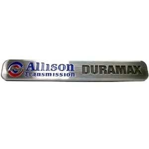 Allison Transmission Duramax Brushed Metal Nameplate Emblem GENUINE GM