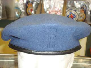 Canadian Forces CAF RCAF Air Force Blue Beret Leather 7 5/8