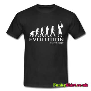 GUITAR TO OF EVOLUTION T SHIRT TSHIRT MENS WOMEN BOY ROCK NAD ROLL AIR