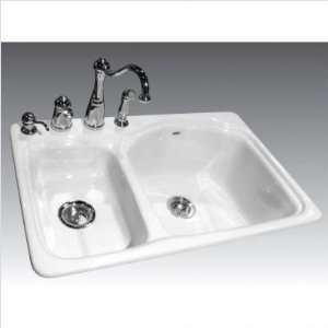 Bundle 63 Forrester Single Hole Cast Iron Kitchen Sink
