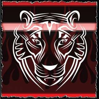 Tiger 2 airbrush stencil template harley paint
