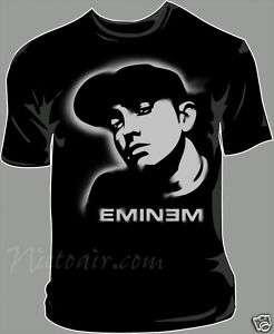 eminem Airbrush Stencil shirt airbrushed