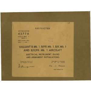 Vickers Valiant B Mk.1 Aircraft Maintenance Manual