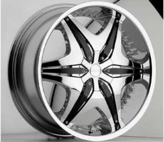 20 inch Akuza chrome black wheel rim 5x4.5 5x114.3 RWD