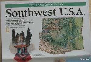 National Geographic Map Southwest USA Oct 1992