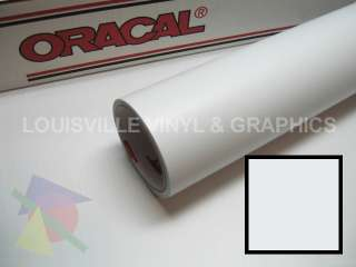 Roll 24 X 10yd White Matte Oracal 651 Sign Cutting Vinyl