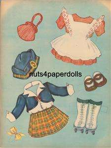 VINTAGE CLOTHES LADY PAPER DOLL LASER REPRO FREE SHW2