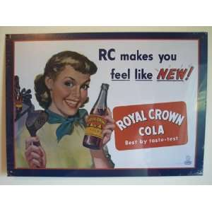 RC Royal Crown Cola Golf Girl Metal Sign
