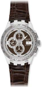 Swatch Irony Chrono Automatic Right Track Brown Dial Mens watch