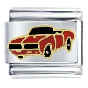 Big Red Muscle Car Italian Charms Pugster Jewelry