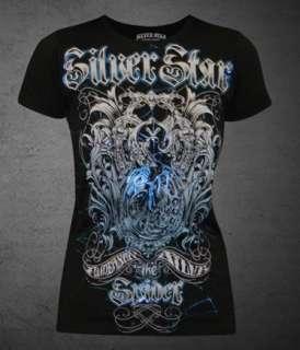 Anderson Silva Spider SILVER STAR Womens T shirt Blue