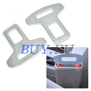 Car Vehicle Auto Safety Seat Belt Buckles Metal Pair