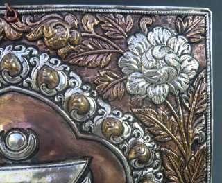 Tibet Tibetan Buddhist Silver Kalachakra Thangka Tangka