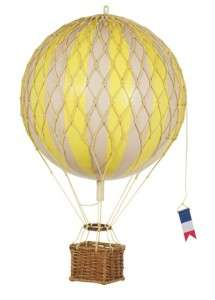 Floating The Skies Model Hot Air Balloon True Yellow NIB Authentic