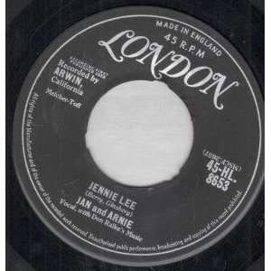 JENNIE LEE 7 INCH (7 VINYL 45) UK LONDON 1958: JAN AND