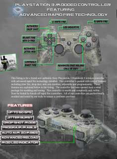 URBAN CAMO SONY PLAYSTATION PS3 MODDED RAPID FIRE CONTROLLER 10 MODE