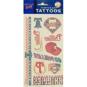 Philadelphia Phillies Official Logo Tattoo Sheet: Sports
