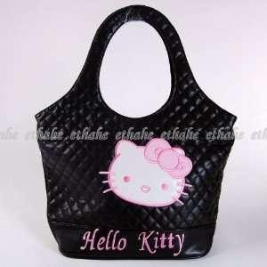 Hello Kitty Shopper Tote Shoulder Bag Hobo Black Baby