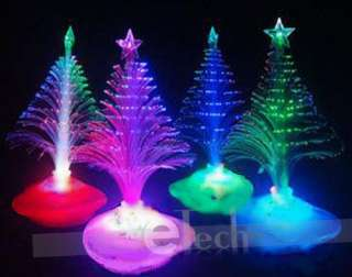 NEW Colorful Christmas Tree Fiber Optic Night Light Xmas