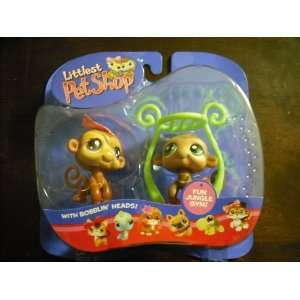 Littlest Pet Shop Monkey Twins 1098 1099 Toys & Games