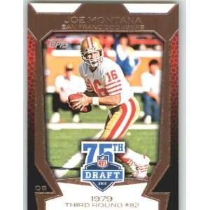 Topps Draft 75th Anniversary #75DA 1 Joe Montana   San Francisco 49ers