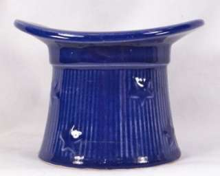 COBALT BLUE UNCLE SAM TOP HAT ART POTTERY VASE Vintage SHAWNE As Is