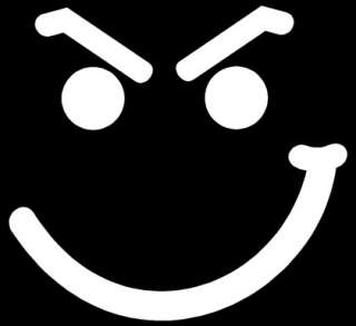 SMIRK FACE Sticker Funny Vinyl Car JDM Laptop Decal )