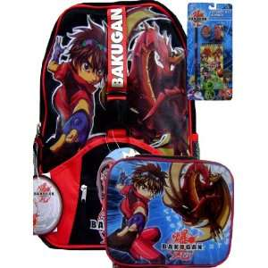 New Bakugan Backpack Matching Lunch Box Free Stationery