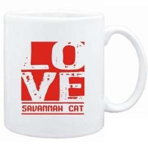 Mug White  LOVE Savannah  Cats