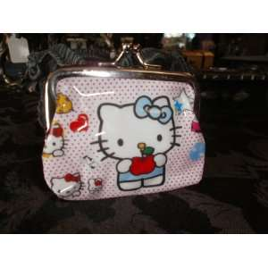Poka Dot Apple Hello Kitty Small Coin Purse Everything