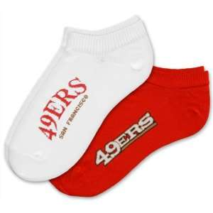 San Francisco 49ers Womens No Show Socks (2 pack) Sports