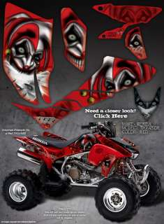 HONDA TRX450R 04 05 GRAPHICS THE EVIL JESTER RED