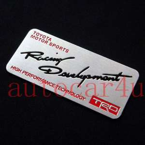 Quality 3D NAME PLATE Sticker Emblem FOR TOYOTA TRD ALL SERIES
