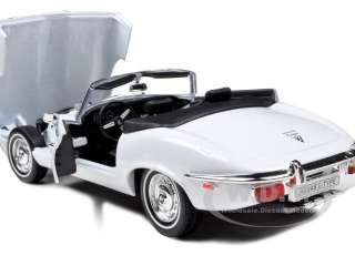 1971 JAGUAR E TYPE WHITE 1/18 DIECAST MODEL CAR