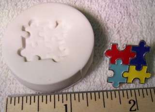 Autism Awareness Puzzle Piece #2 Polymer Clay Push Mold