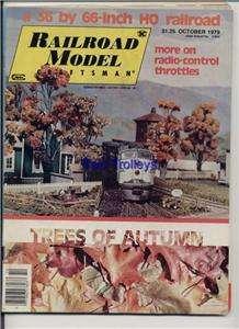 Railroad Model Craftsman Oct 1979 Autumn Tree Throttles