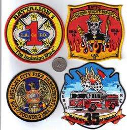 CALIFORNIA FIRE PATCH LOS ANGELES COUNTY BATTALION 1